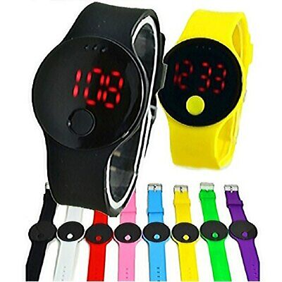 LED Touch Digital Screen Wrist Watch For Men Women Unisex School Boys Girls Kids