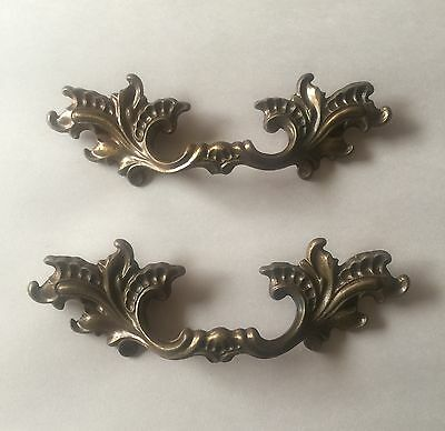 Vintage Decorative Drawer Cabinet Door Handles Set Of Two Matching