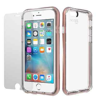 iPhone 6 Plus / 6S Plus Clear Case and Glass Screen Protector, Scottii Bundle