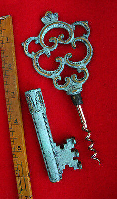 Stately Exotic Ornate Rare Top Wine Cork Screw Skeleton Key - From Europe Old