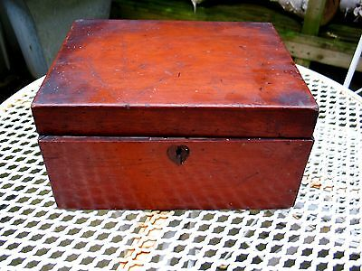 Antique Georgian Wooden Tea Caddy Box  For Restoration See Images