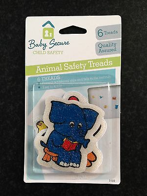 BNIP Baby Secure Child Safety Pack of 6 Animal Bath Safety Non Slip Treads