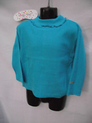 BNWT Baby Girls Size 00 Aqua Soft Stretch Jelly Beans Brand Skivvy Top