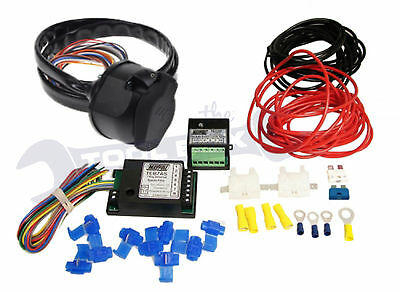 Towbar Wiring Kit Pre-Wired 13 Pin Bypass relay Dual Charge Relay (All you need)