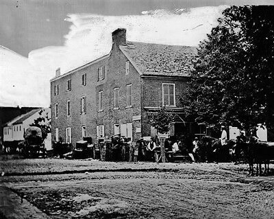 New 11x14 Civil War Photo: U.S. Sanitary Commission Building after Gettysburg