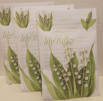 Fresh Scents Scente Sachets Set of 3  Lily of the Valley Made In The USA Sachets