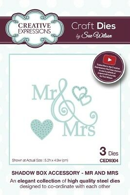 Creative Expressions Mr & Mrs Shadow Box Accessory Craft Dies CED9304