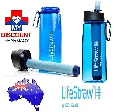 2 X Bottle Lifestraw Go Personal Portable Life Straw Water Filter Purifier