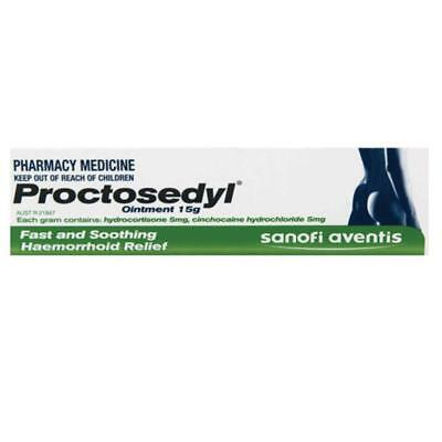 * Proctosedyl Ointment 15G Fast And Soothing Haemorrhoid Relief Itching Swelling