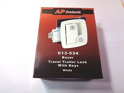 AP Products 013-534 Bauer White Travel Trailer Lock with Keys