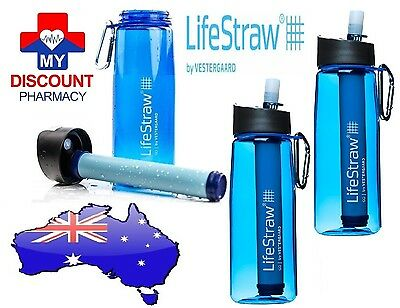 3 X  Bottle Lifestraw Go Personal Portable Life Straw Water Filter Purifier