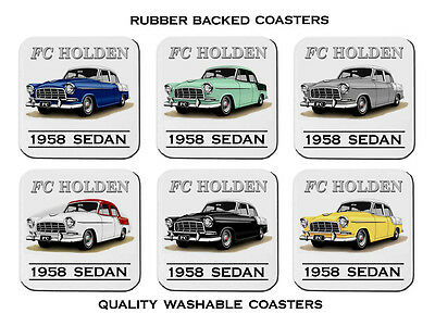 1958  1958  Holden  Fc  Special Sedan    Set Of  6   Rubber Drink  Coasters