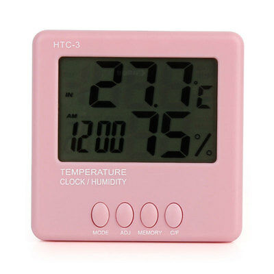 Multifunction Convenient LCD Screen Alarm Clock Hygrometer Thermometer