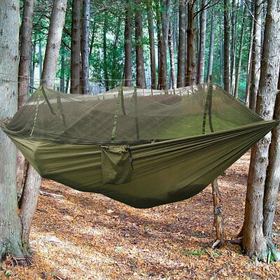 Net Jungle Camping Hammock Hanging Swing Large Portable Travel Sleeping Bed