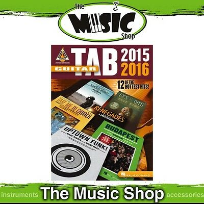 New Guitar Tab 2015-2016 Recorded Versions Music Book