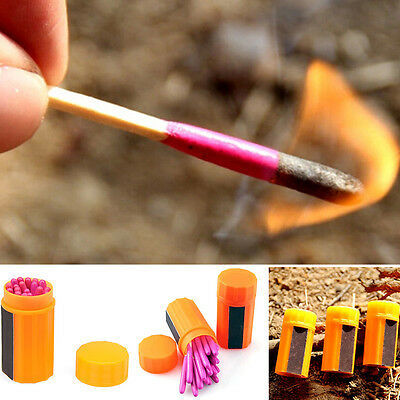 New Outdoor Waterproof Camping Emergency Survival Lighter Kit Gear Storm Matches