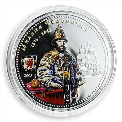 Cook Islands, 10 dollars, Tsars of Russia, Mikhail Fedorovich, king, proof 2008