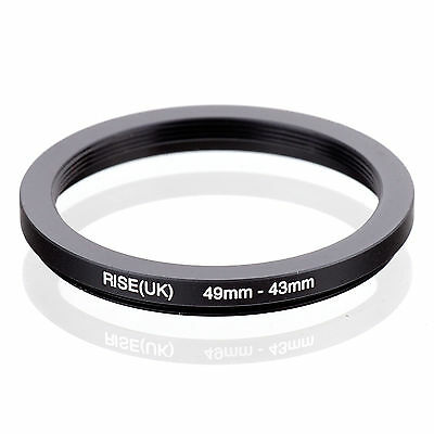 RISE (UK) 49-43MM 49MM-43MM 49 to 43 Step Down Ring Filter Adapter