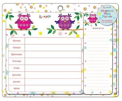 Portobello Magentic Weekly Planner With Shopping List & Pencil