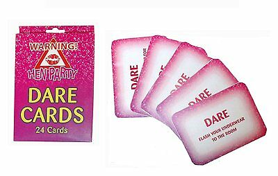 24 Hen Night Party Dare Card Girls Accessories Wedding Favours Gifts Pack of 24
