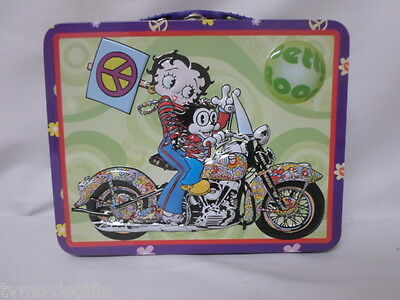 Betty Boop Hippie Betty Tin Lunchbox Licensed 44761 Retired 2003 New