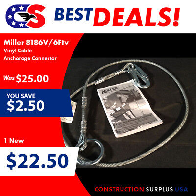 Miller by Honeywell 8186V/6FTV Vinyl Cable Anchorage Connector