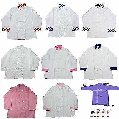 Children's Chefs Jackets - Kids Cooking Uniforms Boys and Girls  * NEW *