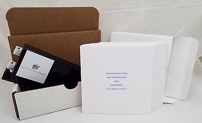 Red Ink Cartridge Factory Refilled Replugged & Reset PB Postage Meter Tapes 5x5