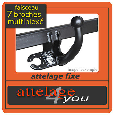 ATTELAGE fixes Peugeot 407 SW break 2004-2008 + faisceau multipléxé 7 broches