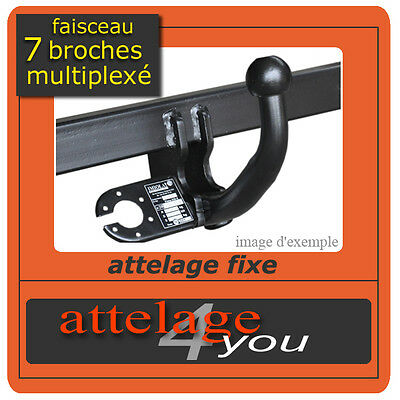 ATTELAGE fixes Peugeot 407 SW break 2008-2011 + faisceau multipléxé 7 broches