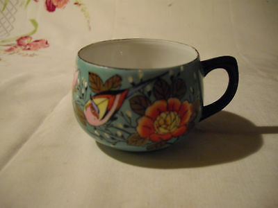 Vintage Cwikaramachi, Hand Painted, Floral w/ Bird Cup