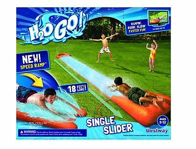 New H2O GO! Single Water Slider Outdoor Summer Fun Water Play