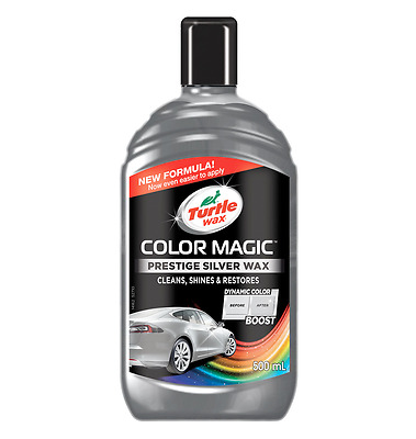 Turtle Wax Color Magic Colour Enhancing Polish 500ml & Chip stick Silver