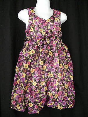 BNWT Girls Sz 12 Bubble Hem Sleeveless Cute Daisy Print Fully Lined Party Dress