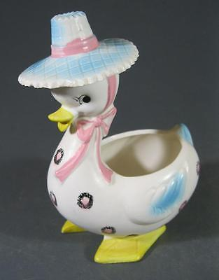 Retro/vintage 60s-70s ceramic duck planter - kitsch Japan