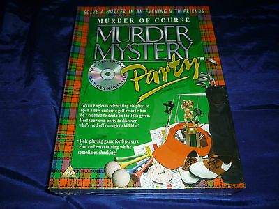 Murder Mystery Party: Murder of Course DVD & CD- New & Factory Sealed! 8 Players