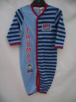 BNWOT Baby Boys Size 1 Cute Thomas The Tank Engine Long Romper Suit