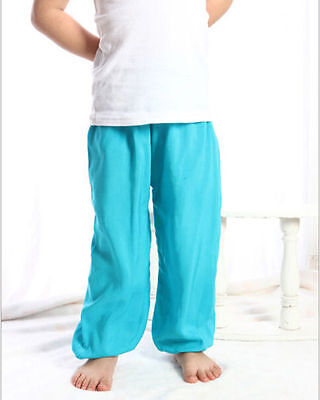 Kids Girls Mosquito Loose Pant Air-conditioning Pajamas Bady Boys Trousers 2-5Y