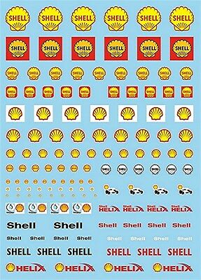 Shell Sponsoren Bogen No.3 - 1:43 Decal Abziehbilder