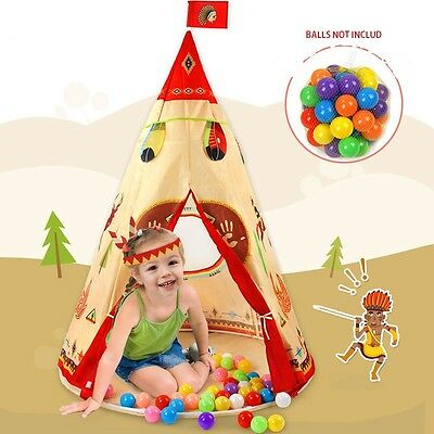 2017 Children Kids Teepee Tent Indian Tent for Indoor Play House UK STOCK