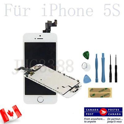 New For White iPhone 5S LCD Touch Screen Display Digitizer Home Button & Camera
