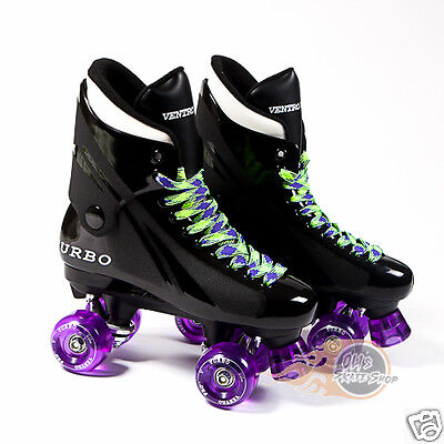Ventro Pro Turbo Quad Roller Skates, Bauer Style - Purple Airwave wheels