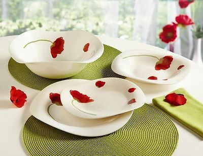 Luminarc 'Insouciance' 19-pc White Unbreakable Tempered Glass Dinnerware Set