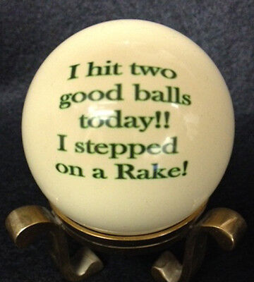 Pool/Billiards Stepped on a Rake Custom Cue Ball New and Unique!