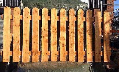 Round Top Pickets Garden Fence Panels. NEW LOW PRICE 6ft x 3ft