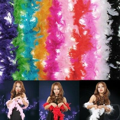 New Ladies Feather Boa Scarf Burlesque Hen Night Party Costume Fancy Dress