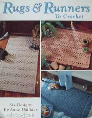 Crochet Rugs and Runners, rug patterns using yarn