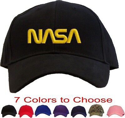 707a472d452 Nasa - Yellow Worm Logo Embroidered Baseball Cap - Available in 7 Colors -  Hat