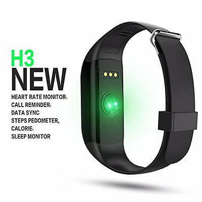 H3 OLED Waterproof Heart Rate Monitor Pedometer Health Smart Wristband Bracelet