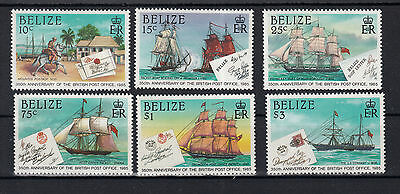 891 ) Belize 1985 British Post Office 350th anniversary Ship letters MNH